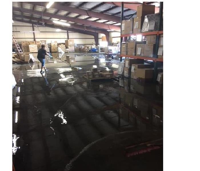 Flooded warehouse in Hemet,CA Before