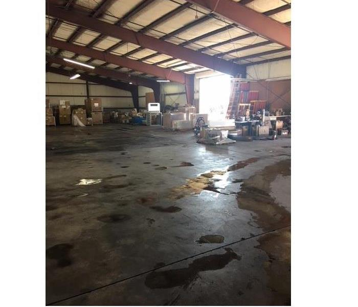 Flooded warehouse in Hemet,CA After
